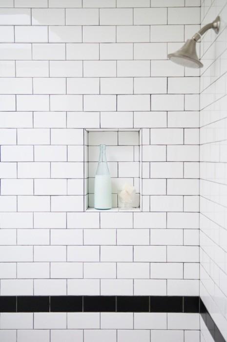 Breeze giannasio bgdb interior design black and white subway tile - Modern subway tile bathroom design interior ...