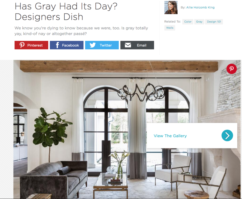 Breeze Giannasio Interiors - HGTV - Has Gray Had its Day?