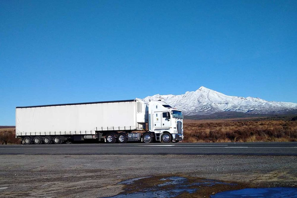 TR Group Truck New Zealand road