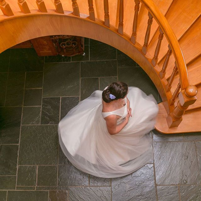 Some dresses are made for spinning... Jo's dress was one such a dress & she rocked it well. ___  There's also something Fibonacci / Nautilus -esque that makes me unreasonably happy. ___  #weddingdress #weddingdayjoy #beyourself #yourweddingyourway #celebrateyourway #happiness #fibonacci #spinning #happydance #weddingdayhappiness