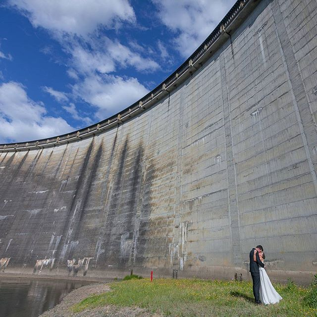 Love is so dam amazing.  ___  When you feel like you're holding 8.5 cubic kilometers of water. And could crank three 36 megawatt turbines & power the national grid. ___  I mean, come on, Love really is The Best. ___  #loveisthebest #weddingdayadventures #karapiro #metaphor #visualmetaphor #wedinwaikato #waikatowedding #waikatoweddingphotographer #brookebakerphototakermagicmaker #weddingphotoadventures #somanysteps #scale #kiwiwedding #nzwedding #loveyourway #loveisgrand #loveisdamamazing #fanoflove