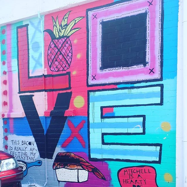 May your 2018 be permeated with spendid, surprising & bright Love. . . . #love #loveisgrand #streetart
