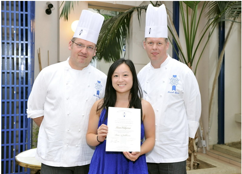 This is me receiving my certificate in Basic pâtisserie. PC - ...the photographer LCB always uses. Currently trying to track down his name.