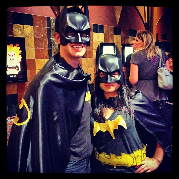 """That time we trolled the Avengers midnight screening. I can't tell you how many people self-righteously came up to me that night to inform me that Batman, in fact, would not be in the film. To which I innocently responded, """"Wait...this isn't The Dark Knight Rises?"""" If the Justice League movie ever happens I'll happily go as one of the X-Men."""
