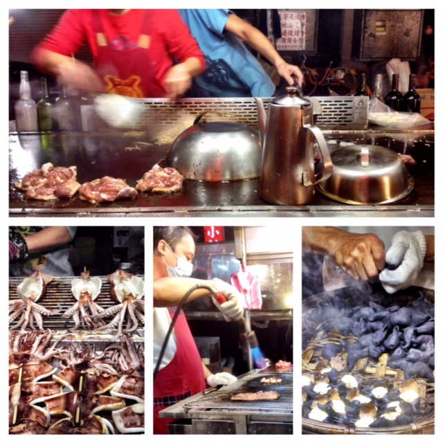 Food stalls at Ningxia Night Market.