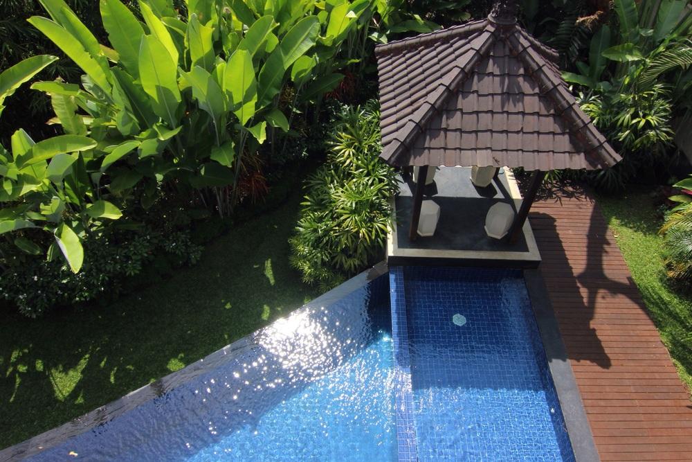 The pool at the villa.