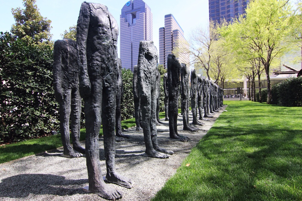 An installation in the Nasher Sculpture Center garden in downtown Dallas.