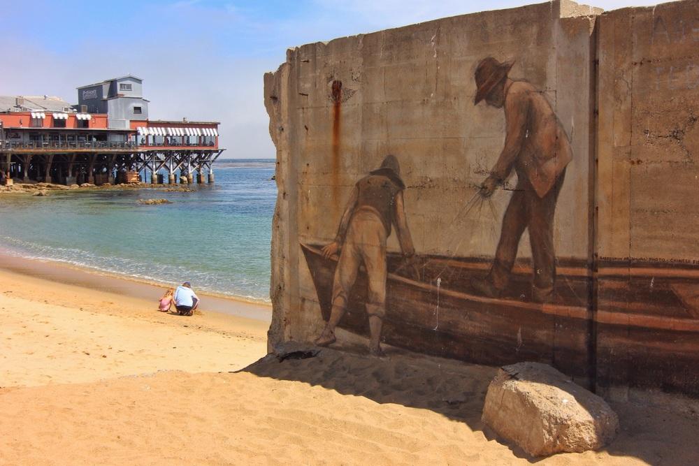 Mural at McAbee Beach in Monterey.