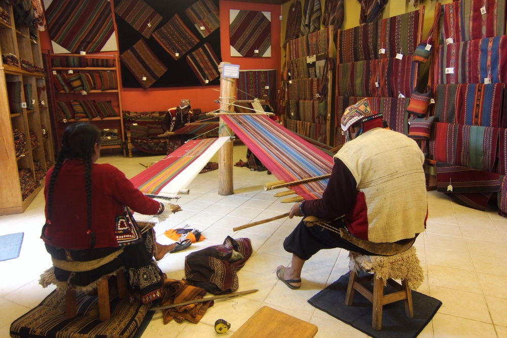 Weavers at the Center for Traditional Textiles.