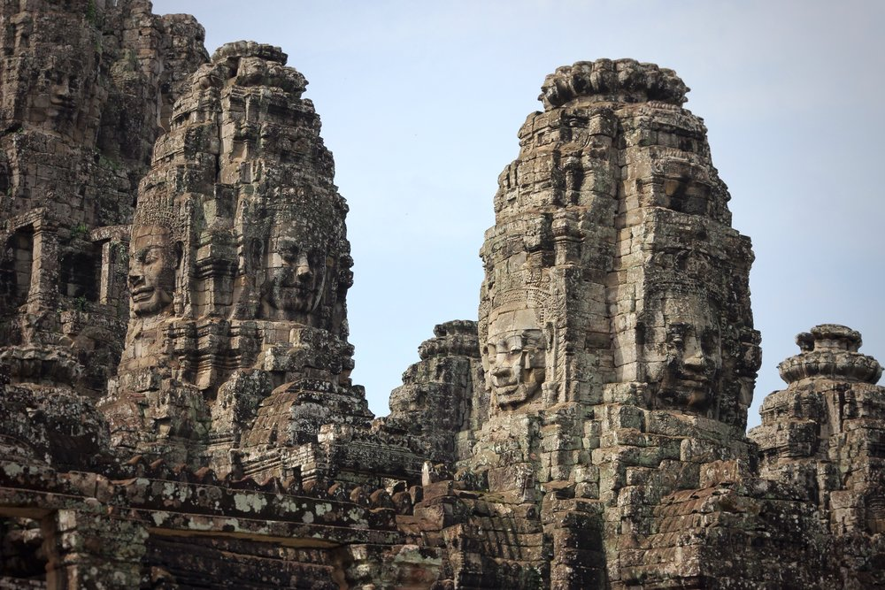 Some of the Buddhas of Bayon.
