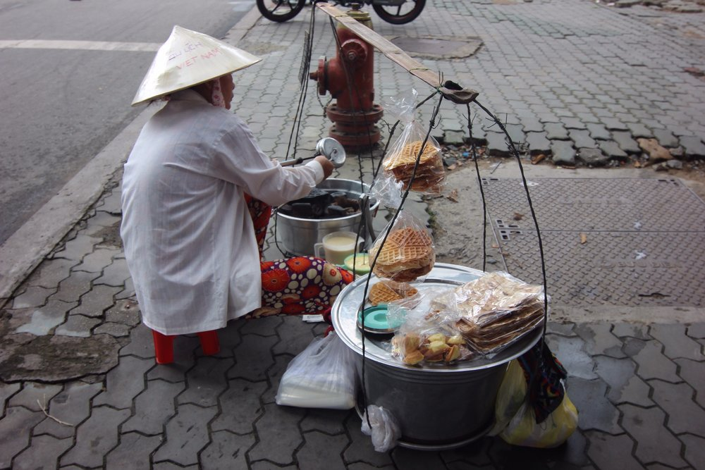 A street vendor near our hotel.