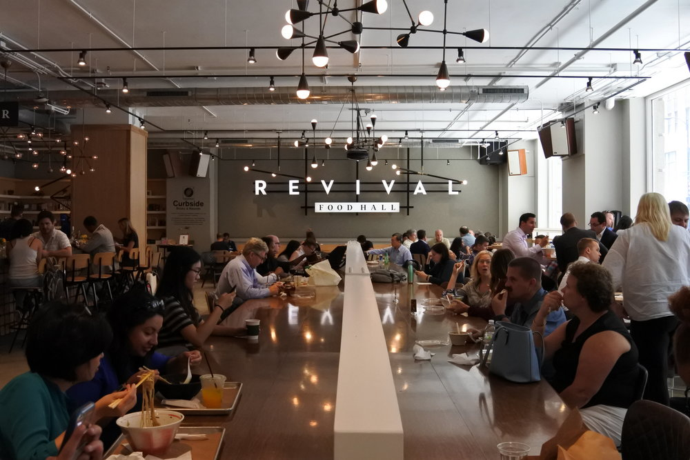 Revival Food Hall in downtown is an excellent lunch spot.