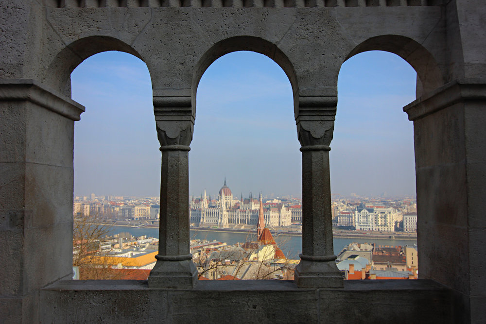 View of the parliament building from Fisherman's Bastion.