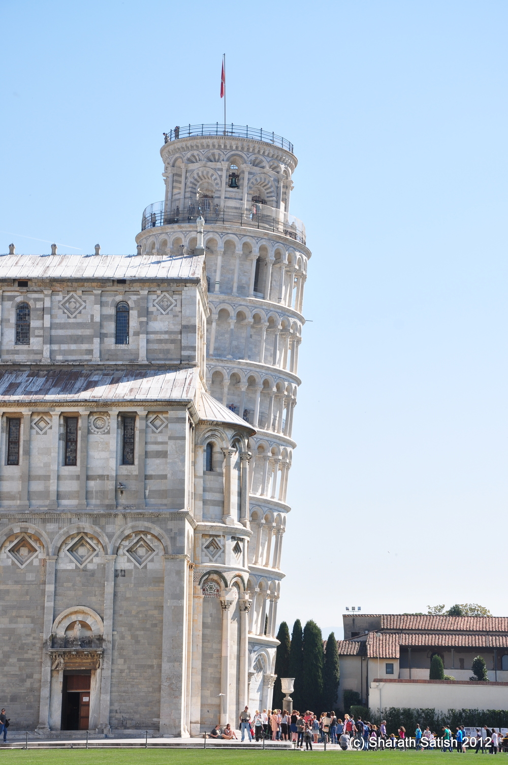 Leaning tower of Pisa! It really leans.