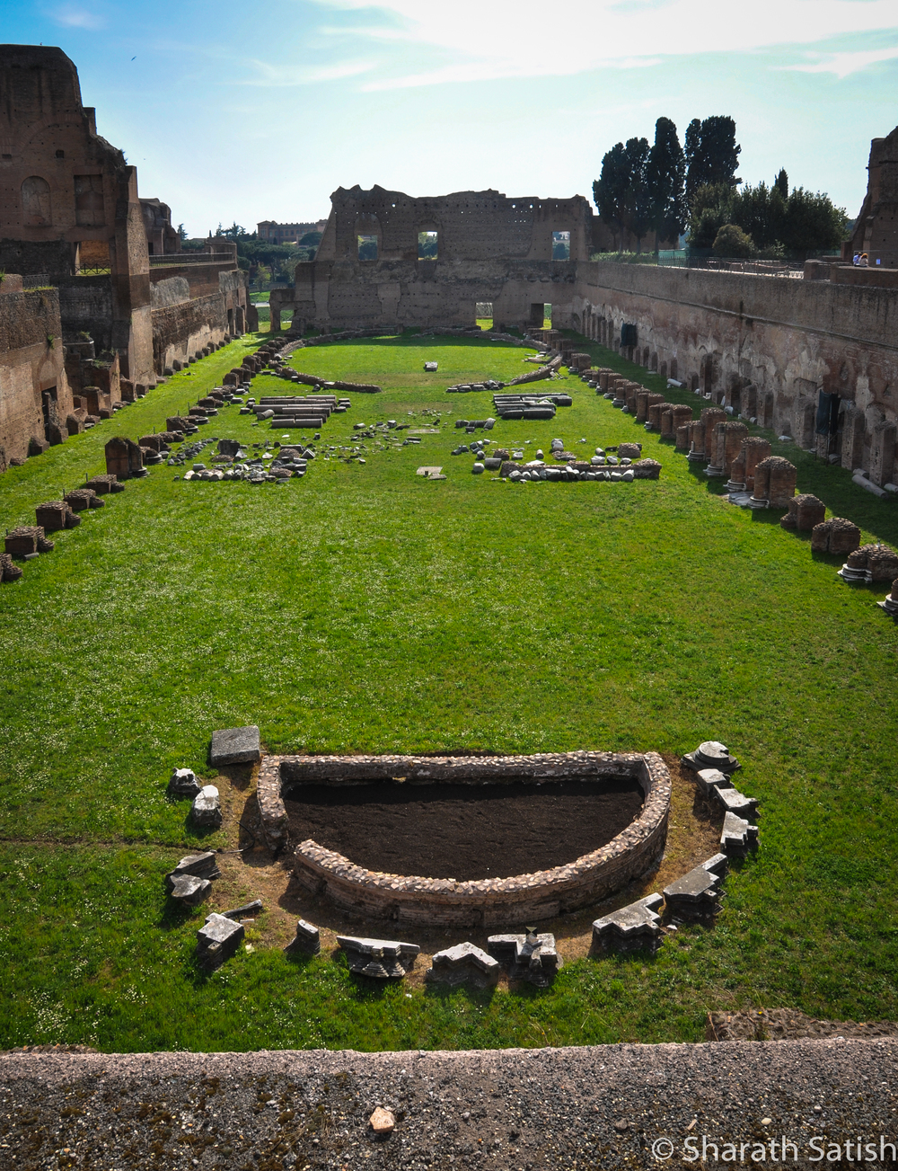 A stadium up on Palatine Hill