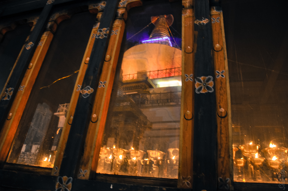 Memorial Chorten through a looking glass