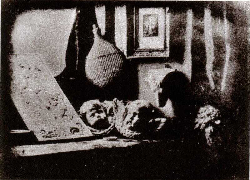 L'Atelier dell'artista, 1837 dagherrotipo da Daguerre, ha affermato di essere il primo a completare l'intero processo.