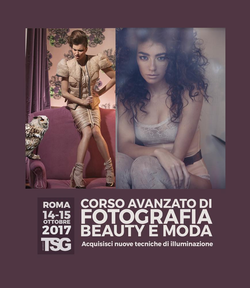Corso avanzato di fotografia per beauty e moda