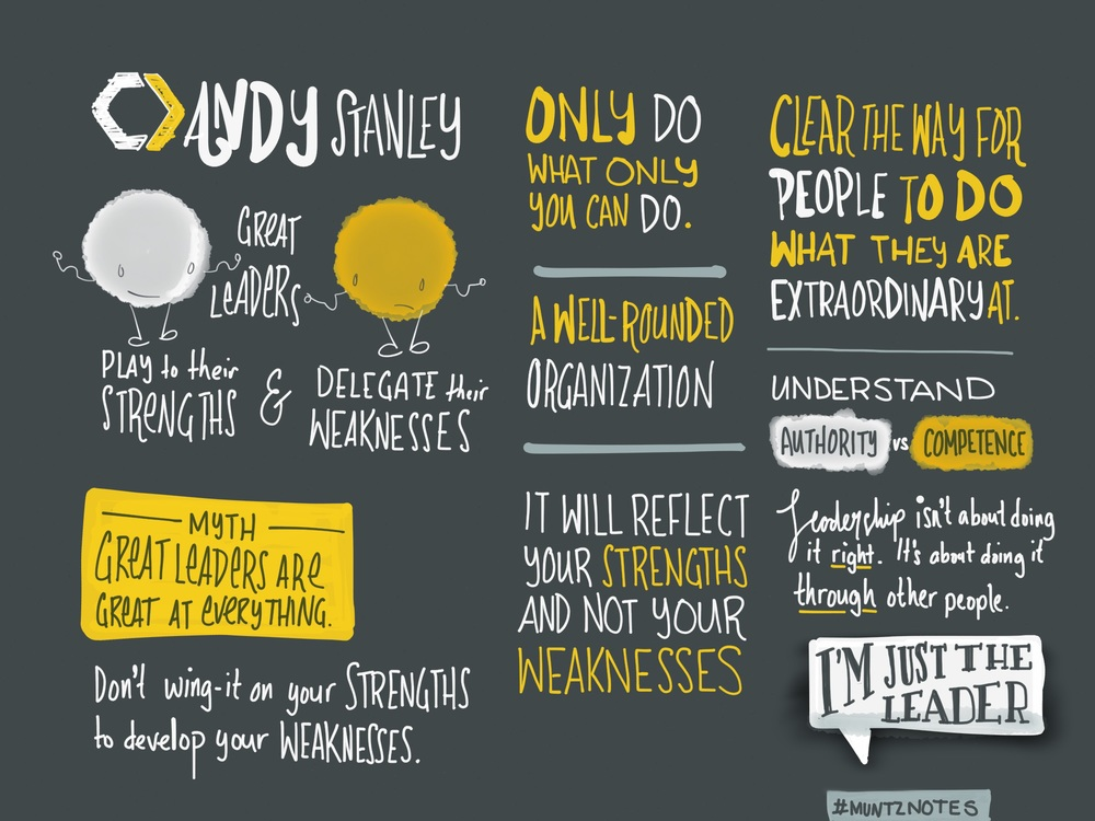 Notes from Andy Stanley's Session Two talk at Catalyst One Day.