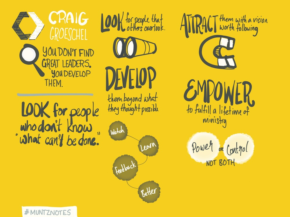 Notes from Craig Groeschel's Session Three talk at Catalyst One Day.