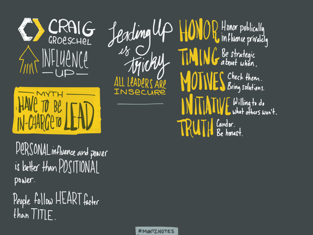 Notes from Craig Groeschel's Session One talk at Catalyst One Day.