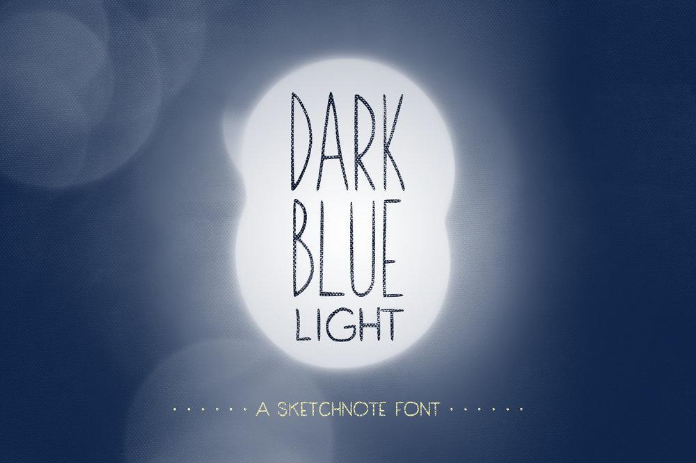 Dark Blue Light: Sketchnote Font -