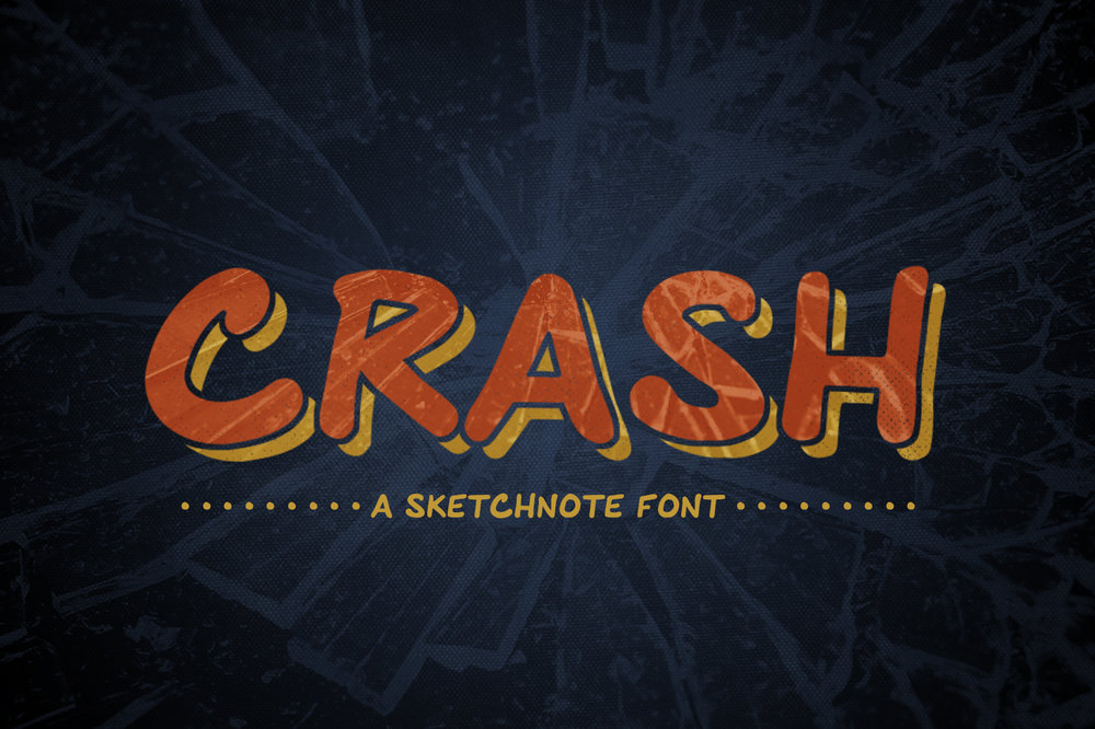Crash: Sketchnote Font -