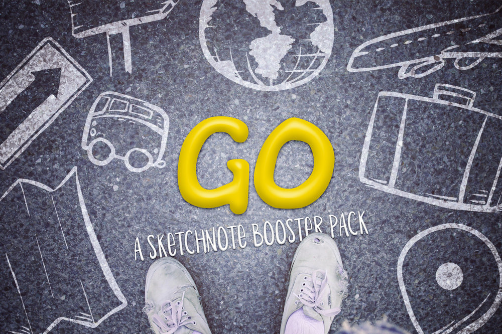 Go: Sketchnote Illustration Pack -