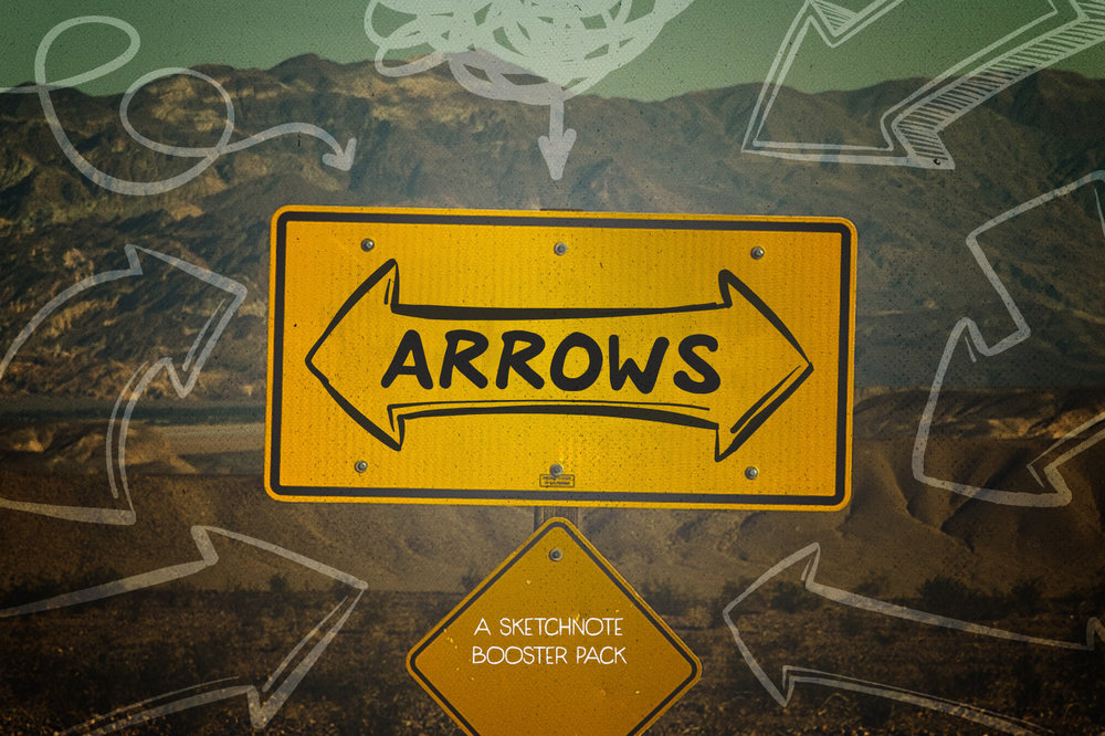 Arrows: Sketchnote Illustration Booster -