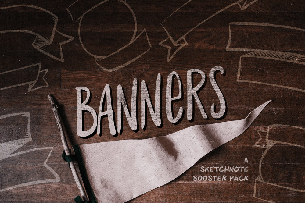 Banners: Sketchnote Illustration Pack -