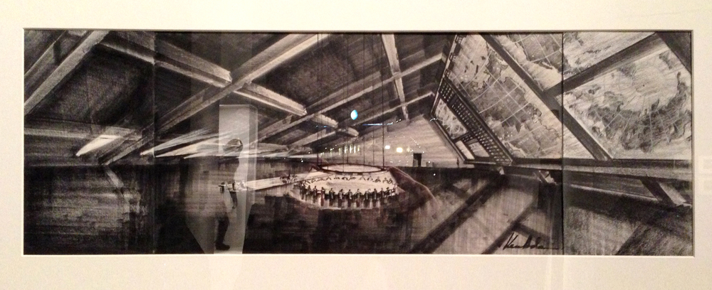 Sketch of the Dr Strangelove war room by the one and only Ken Adam. Fighter jet pilot, legendary production designer, and just general bad-ass skanky bastard.