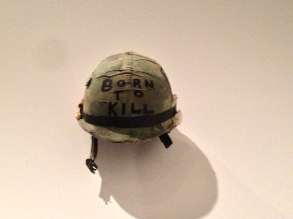 Joker's helmet from Full Metal Jacket