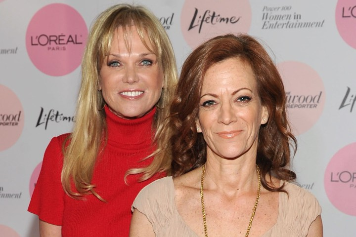 Former ET Producer Heidi Clements, right, and Executive Producer Linda Bell Blue, left.