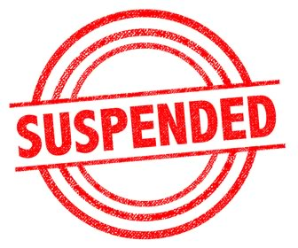 Image result for suspended