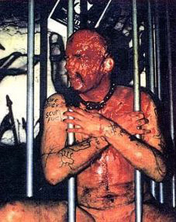 When the brown comes tumbling down: GG Allin in an excrement moment.