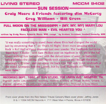The back cover of the EP.