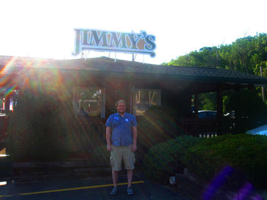 2. Brenton in front of Jimmy's.JPG