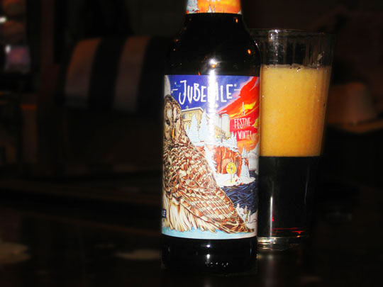 9. Jubelale bottle and glass.JPG