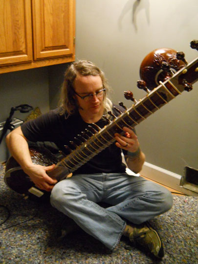Joel Madigan, guitarist/vocalist from Men Of Fortune will be the featured sitar player of the evening.