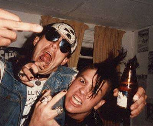 Real wild childs: GG Allin and Bloody Mess in the '80's.