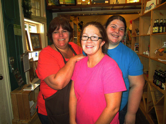 Patty, Lea and Jen, three of Julie's elves!