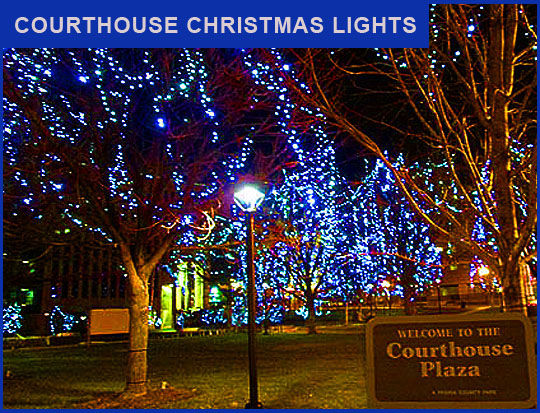 "Christmas is just five days away. Personally I can't stand all the  commercialization of Christmas and things like ""Black Friday,"" that are  associated with ... - Courthouse Christmas Lights €� Meanwhile, Back In Peoria..."