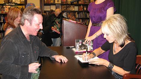 Vera Ramone signing my book at Barnes & Noble.