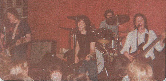 Kool Ray and The Polaroidz at Mabel's in Champaign in 1980. The band were regulars at this popular club.
