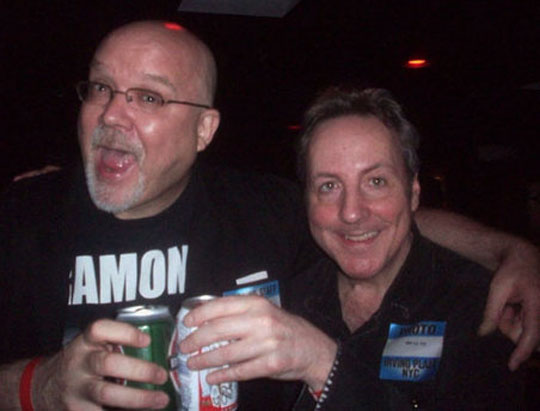John Holmstrom and myself at the annual Joey Ramone Birthday Party in 2011