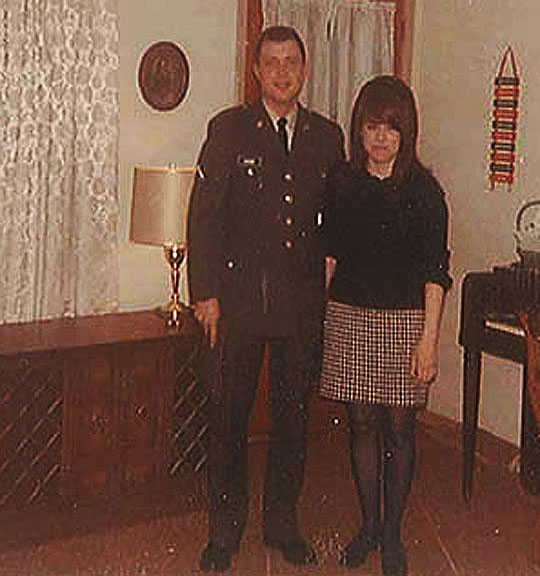 Chuck Asher and Diane Eaves, 1968, the night before Chuck shipped off to Vietnam.