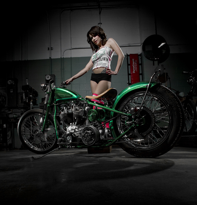 "Chopper Girl with LA Speed Shop bike ""McPhizz"""