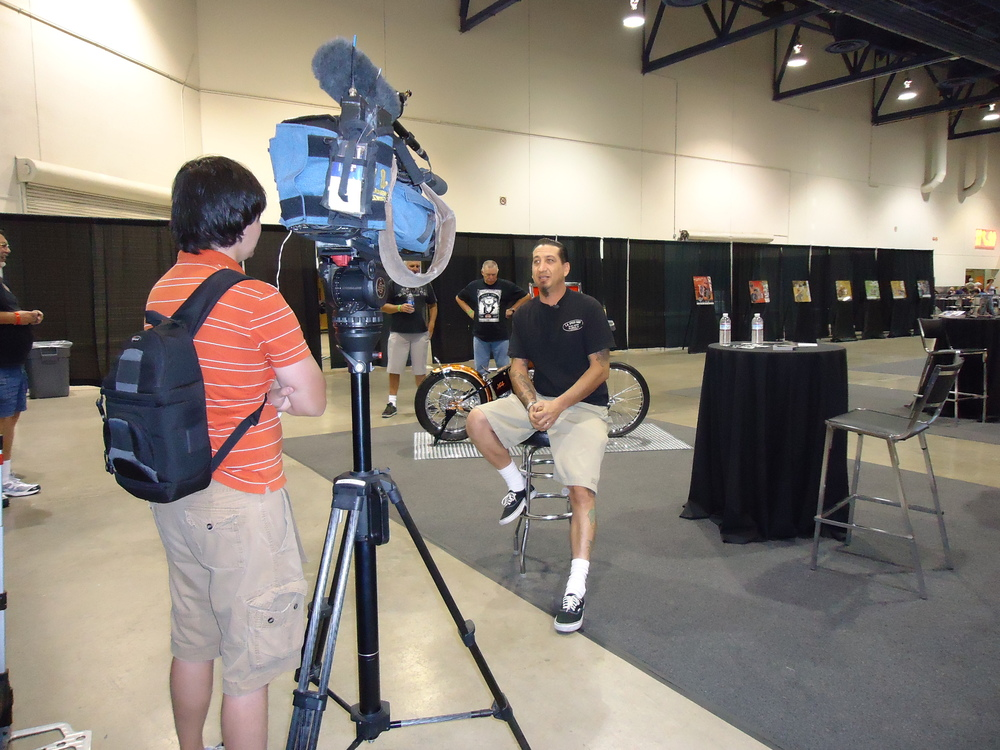 Chris being interviewed for the local ch. 8 Las Vegas news