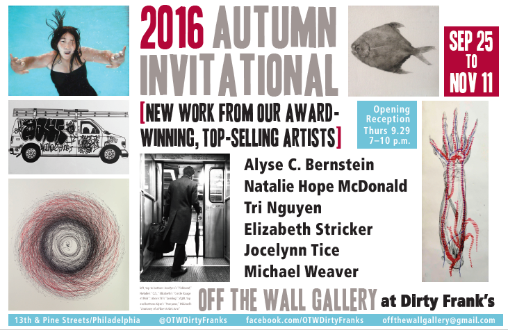 Opening Reception on Thursday, September 29th from 7-10pm  Curated by Jody Sweitzer.