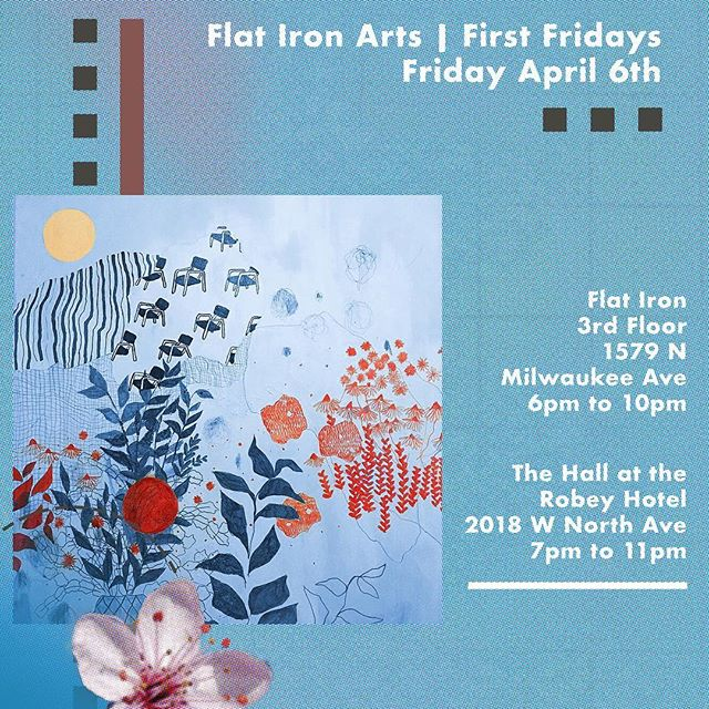 Join me tonight the Flat Iron! I'll be showing new work with @culturesaving and over at The Robey Hotel @aprillicks will be showing her ceramics work, @memar__ showing paintings, @presidentplus will be hosting an amazing workshop, @t_cko will be spinning those records!